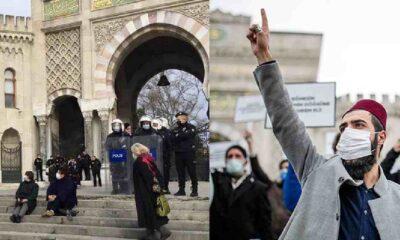 Beyazıt Meydanı'nda açıklama yapmak isteyen akademisyenlere engel: Yürüyerek okudular