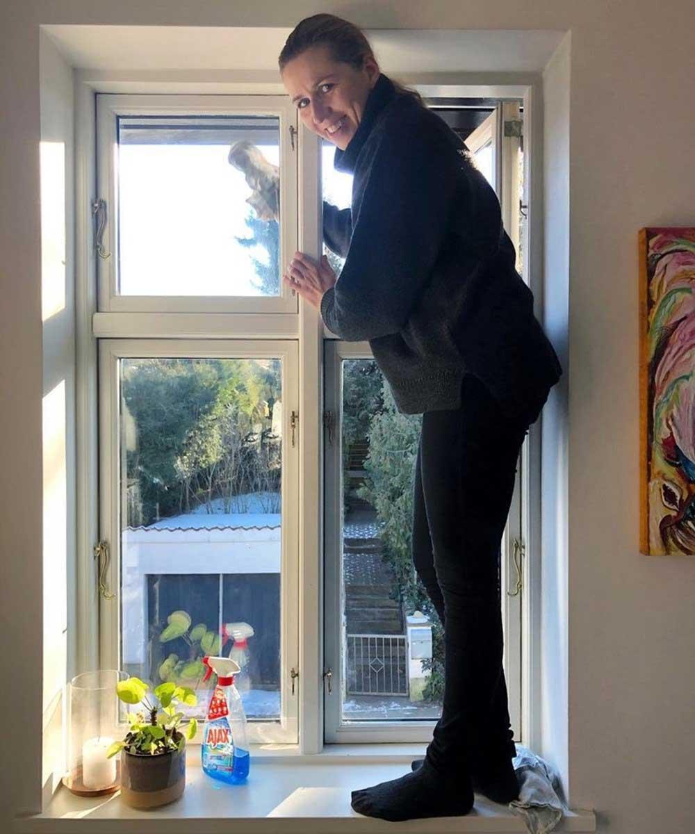 Danimarka Başbakanı Mette Frederiksen'den pazar temizliği paylaşımı!
