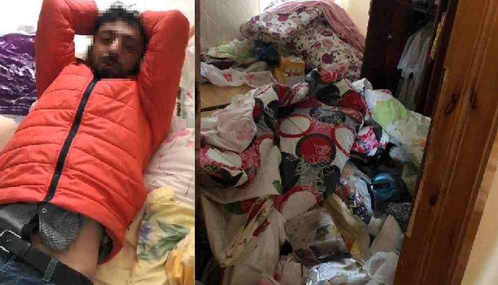 Hırsızlık için geldiği evde uyuya kaldı