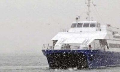 İstanbul'da gece başlayan kar yağışı etkili oluyor, bazı deniz otobüsü seferleri iptal edildi
