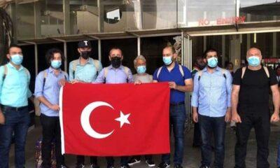 Kurtarılan Türk denizciler İstanbul'a getirildi