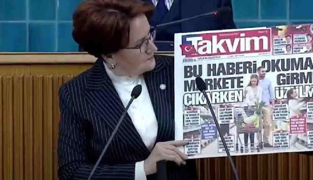 Meral Akşener'den Takvim Gazetesi'ne sert tepki: Bu rezaleti gördün mü Sayın Erdoğan?