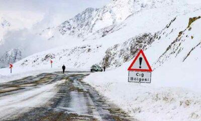 Meteoroloji 8 il için çığ uyarısında bulundu