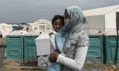 Sığınma kampında hamile kadın kendini ateşe verdi