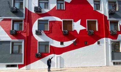 'Süs gibi' Türk bayrağı çizimine tepki