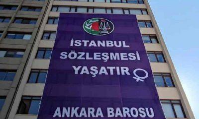 Ankara Barosu, İstanbul Sözleşmesi'nin feshedilmesine pankartlı tepki gösterdi