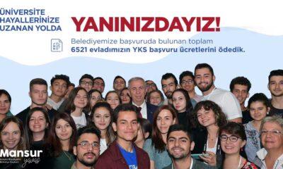Ankara Büyükşehir Belediyesi, 6521 öğrencinin YKS ücretini ödedi