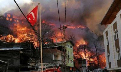 """Artvin'de bir köy alevlere teslim: """"Köyümüzde büyük bir felaket yaşanıyor"""""""