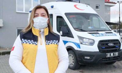 Edirne'nin ilk kadın ambulans şöförü Çiçek Yalçın: Yılmadım, ısrarcı oldum ve işi kazandım