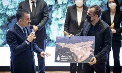 Haluk Levent istedi, Bakan Pakdemirli söz verdi: 350 bin ağaç dikilecek