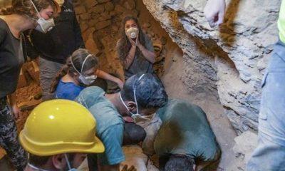 İsrail'deki 'Korku Mağarası'nda 6 bin yıllık çocuk iskeleti bulundu