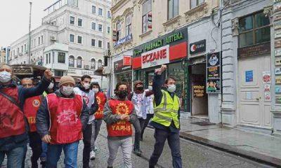 İSİG Meclisi, Sirkeci PTT önünde direnen işçilere dayanışma ziyaretinde bulundu