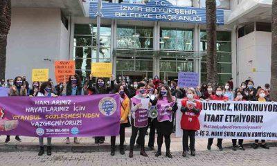 İzmir Büyükşehir Belediye işçisi kadınlar: Kararı geri çek, sözleşmeyi uygula