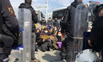 Kadınlar, İstanbul Sözleşmesi için Taksim'de toplandı