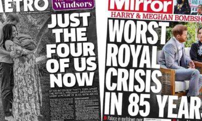 Meghan Markle ve Prens Harry'nin sözleri İngiliz basınında manşetlerde: 'Son 85 yılın en büyük kraliyet krizi'