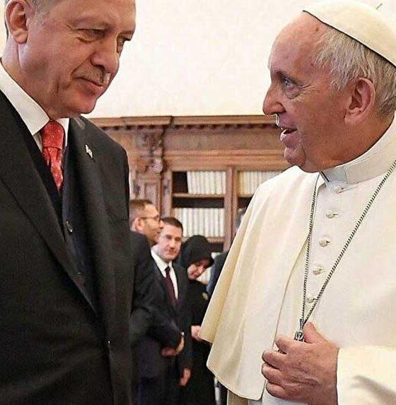 Papa'dan Cumhurbaşkanı Erdoğan'a telgraf
