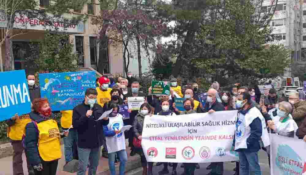 'Şişli Etfal kapatılmasın' eylemi: 'Sağlık hakkıma dokunma'