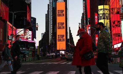 Times Meydanı'nda ilan: Gülen'i durdurun