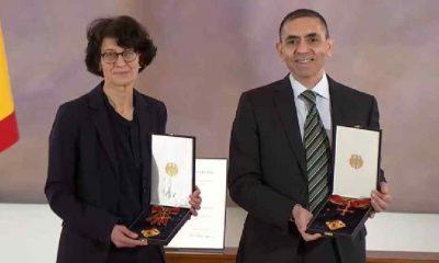 Uğur Şahin ve Özlem Türeci'ye Almanya'da liyakat nişanı