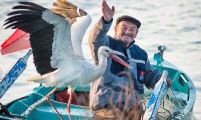 'Yaren Leylek' 10. yılda da Adem Amca ile buluştu: Evladım gibi, 6 ay boyunca balık tutup yedireceğim