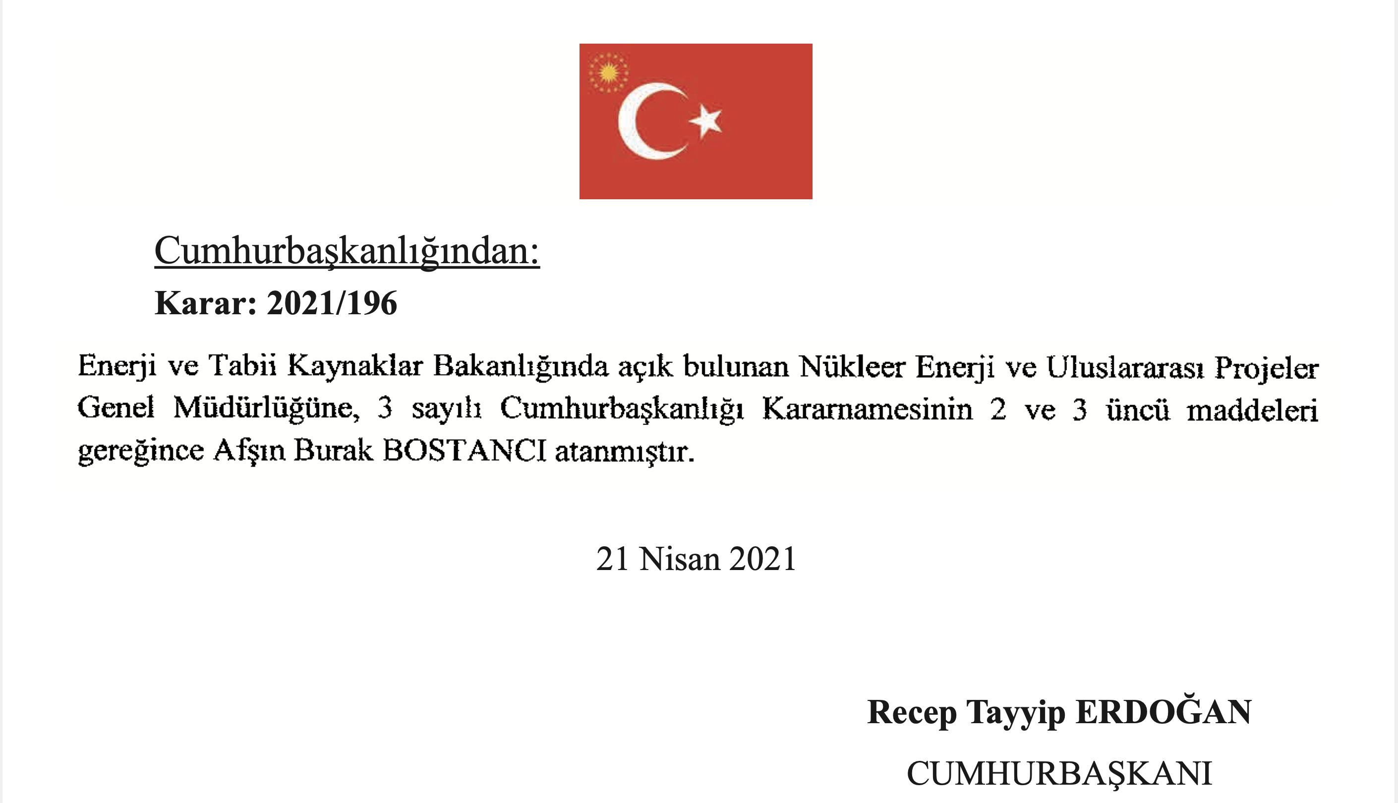 Resmi Gazete'den AKP'li ismin oğlu çıktı! Bostancı'nın oğluna yeni görev