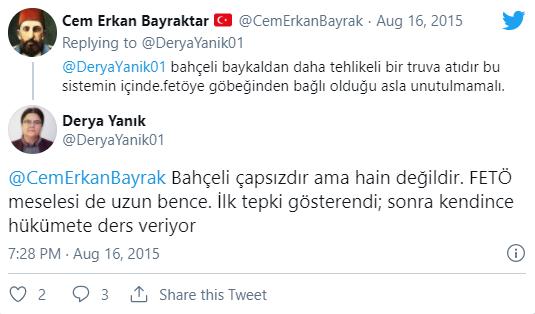 Yeni Aile Bakanı Derya Yanık, Bahçeli tweetleri ile gündemde