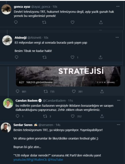 AKP propagandası yapan ve CHP'yi hedef alan kurguyu paylaşan TRT'ye sert tepki
