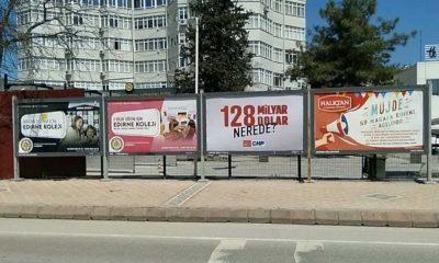 '128 milyar dolar nerede?' afişleri Edirne'de de söküldü