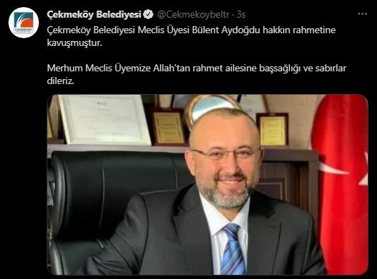 Kongreye katılan AKP'li Aydoğdu Covid-19'dan yaşamını yitirdi