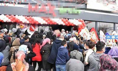 Açılışında sosyal mesafe kuralının ihlal edildiği markete 4 gün kapatma ve idari para cezası