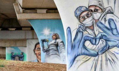 Ankara'dan sağlık çalışanlarına moral verecek grafiti çalışması