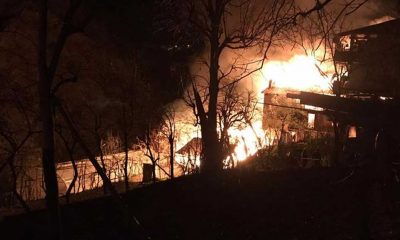 Artvin'de yangın: Alevler evleri sardı!