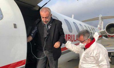 Azerbaycan'da Kovid-19'a yakalanan iş insanı Surur Aydın, ambulans uçakla Türkiye'ye getirildi
