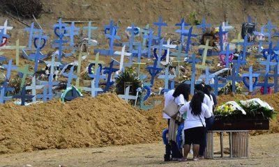 Brezilya'da son 24 saatte Kovid-19 nedeniyle 3 bin 163 kişi yaşamını yitirdi
