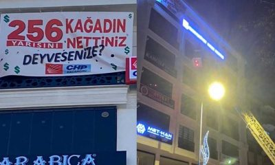 CHP '256 kağıdın yarısını' sormuştu, o afiş de kaldırıldı