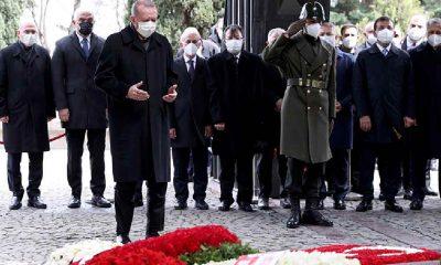 Erdoğan ve İmamoğlu Turgul Özal'ın anma töreninde bir arada