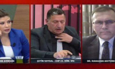 Eski CHP'li vekil Soysal canlı yayında kalp krizi geçirdi