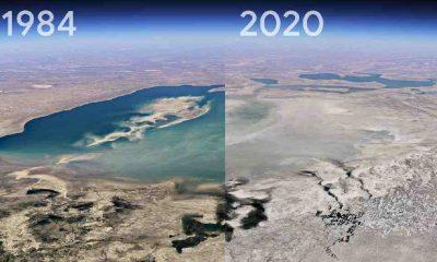 Google Earth'ün yeni özelliği 'Timelapse' gezegende oluşan 37 yıllık tahribatı gözler önüne serdi