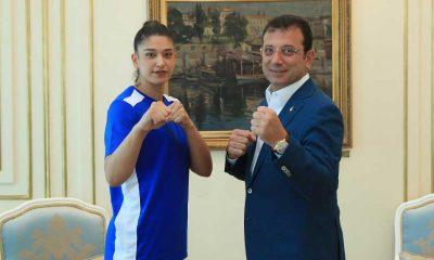 İmamoğlu İBB sporcusunun başarısını bu fotoğrafla duyurdu