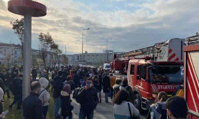 İstanbul'da metroda yangın!