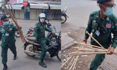Kamboçya polisinden kısıtlamalara uymayanlara sopa ile dayak: 'Hayat kurtarmak için yapıyoruz'