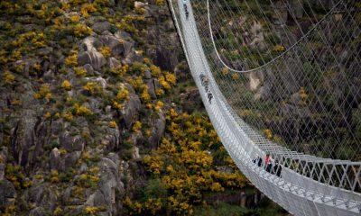 Portekiz dünyanın en uzun asma yaya köprüsünü kullanıma açıyor