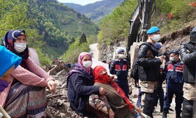Rize İkizdere'de 'taş ocağı' yapımına karşı direnişe müdahale: Gözaltılar var!