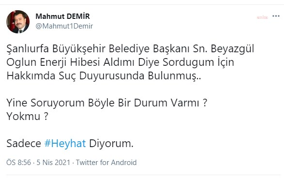 """AKP'li belediye başkanına soru sordu, emniyete çağırıldı: """"Soru sormak ne zamandan beri suç oldu?"""""""