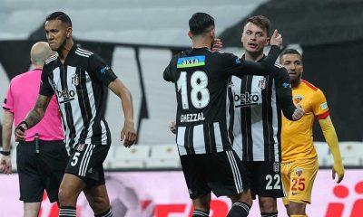 Lider Beşiktaş, Kayserispor karşısında 3 puanı 3 golle aldı
