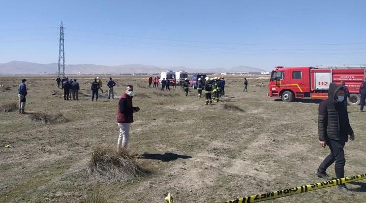Son Dakika... Konya'da askeri eğitim uçağı düştü