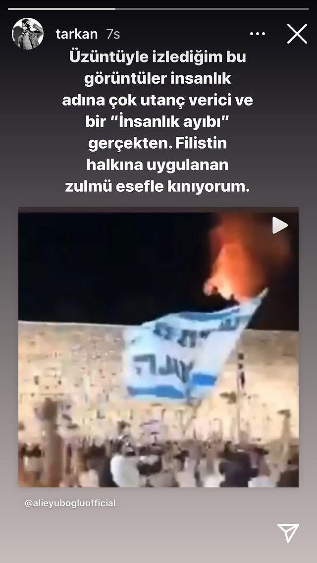 """Tarkan: """"Filistin'de yaşananlar insanlık ayıbı"""""""