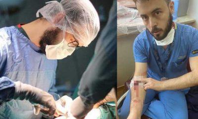 38 derece ateşle, kolunda damar yoluyla çalışan doktoru darp ettiler