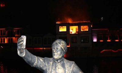 Amasya'da 150 yıllık tarihi konakta yangın