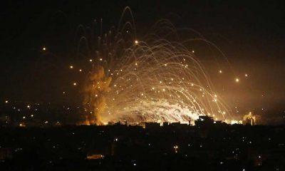 Ateşkese bir saat kala İsrail Gazze Şeridi'ne saldırılarını sürdürüyor